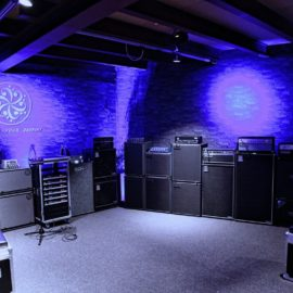 New bass amp test room at Musik Produktiv